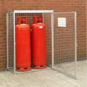 Cylinder Cage for 2 x 47kg cylinders (HDG) Open Door