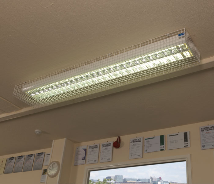 Fluorescent Light Guards - 25mm Mesh | Available in a Range of Sizes