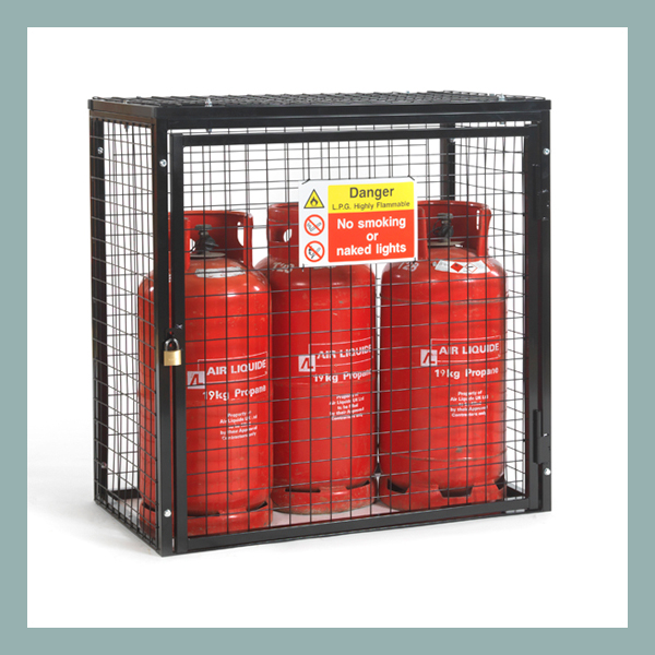 Gas-Cylinder-Cage-3-x-19kg-Black-Powder
