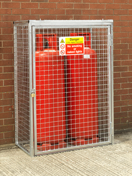 Gas Cylinder Cage for 2 x 47kg HDG by AMP Wire Ltd