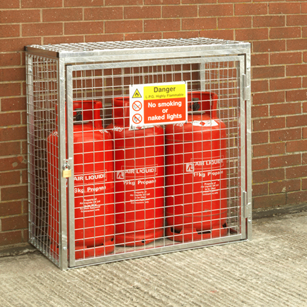 Gas Cylinder Cage for 3 x 19kg HDG by AMP Wire Ltd