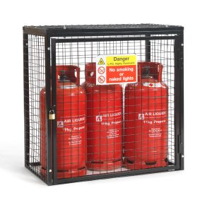 Gas Cylinder Cage for 3 x 19kg cylinders (Black)