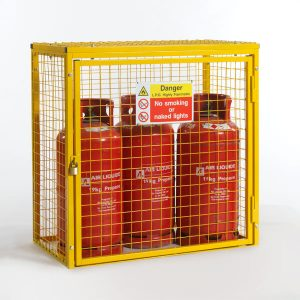 Gas Cylinder Cage for 3 x 19kg cylinders (Yellow)