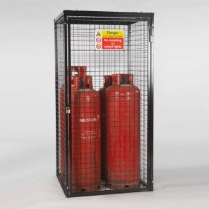 Gas Cylinder Cage for 4 x 47 kg Cylinders (Black)