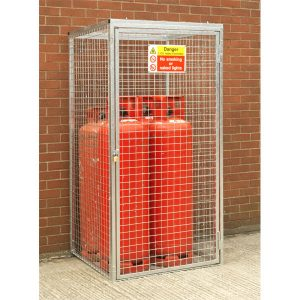 Gas Cylinder Cage for 4 x 47 kg Cylinders (HDG)