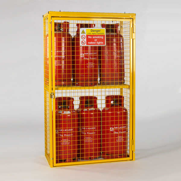 Gas Cylinder Cage for 6 x 19kg cylinders (Yellow)