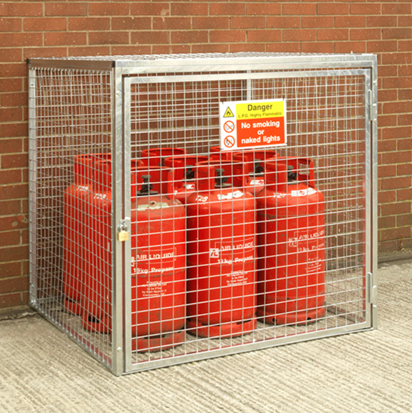 Gas Cylinder Cage for 9 x 19kg HDG by AMP Wire Ltd