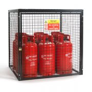 Gas Cylinder Cage for 9 x 19kg cylinders (Black)