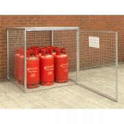 Cylinder Cage for 9 x 19kg cylinders (HDG) Open Door