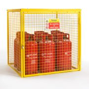 Gas Cylinder Cage for 9 x 19kg cylinders (Yellow)