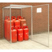 Gas Cylinder Cage for 9 x 47 kg Cylinders (HDG) Open Door