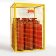 Gas Cylinder Cage for 9 x 47 kg Cylinders (Yellow)