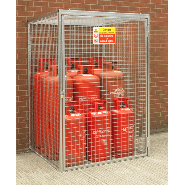 Gas Cylinder Cage for 9 x 47kg HDG by AMP Wire Ltd