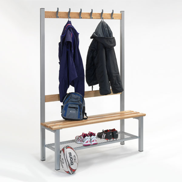Single Sided Bench with Shoe Trays