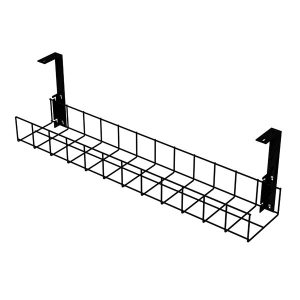 Under Desk Cable Trays (Black with Large Brackets)