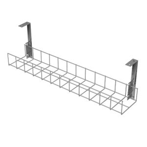 Under Desk Cable Trays (Silver with Large Brackets)