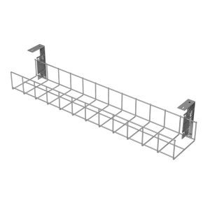 Under Desk Cable Trays (Silver with Small Brackets)