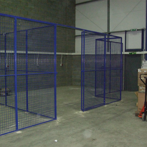 Warehouse Storage Partitions with Sliding Doors