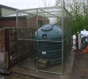Wire Mesh Enclosure for Oil Tank