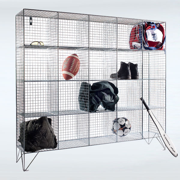 20 Compartment Wire Mesh Lockers Without Doors