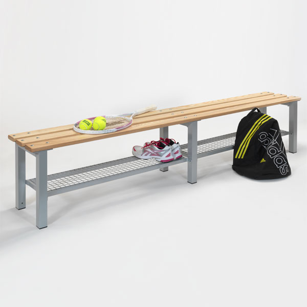 2000mm Changing Room Bench with Shoe Trays