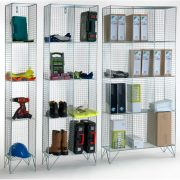4 Door Wire Mesh Lockers Without Doors