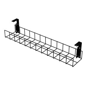 Under Desk Cable Trays (Black with Small Brackets)