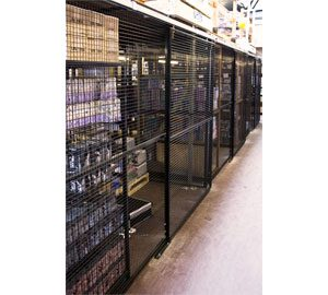 Under-Racking-Wire-Mesh-Partition-With-Sliding-Doors