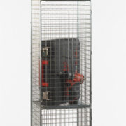 3 Door Nest of 1 Wire Mesh Locker