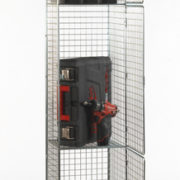 3 Door Nest of 1 Wire Mesh Locker - Open
