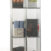 3 Door Nest of 2 Wire Mesh Locker