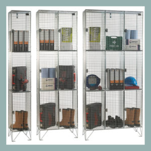 3-Door-Wire-Mesh-Locker