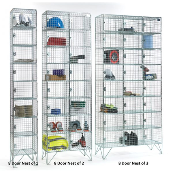 8 Door Wire Mesh Lockers