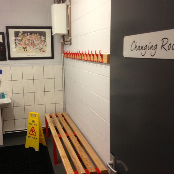 Changing room benches for a boxing gym ampwire