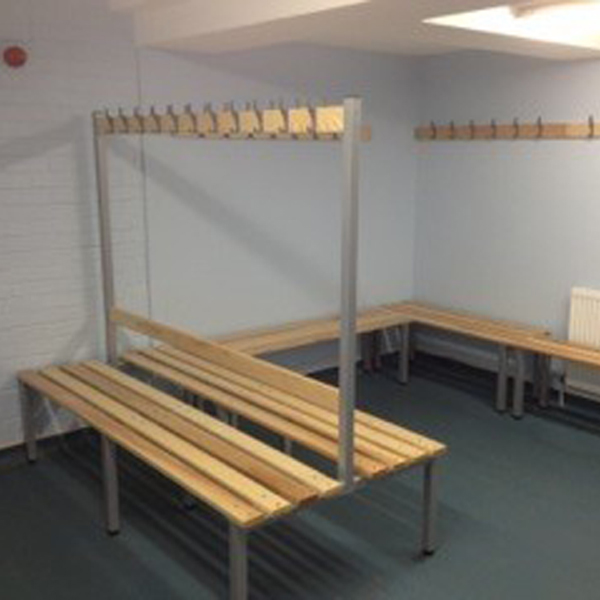 Custom changing room benches from amp wire ltd