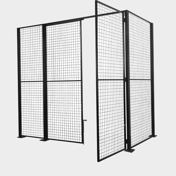L Shape Partition - LSP 1 With Door Open
