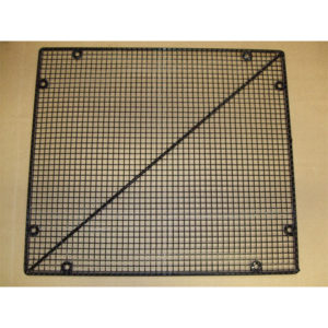 Mesh Door Guard & Screen Black Plastic Coated