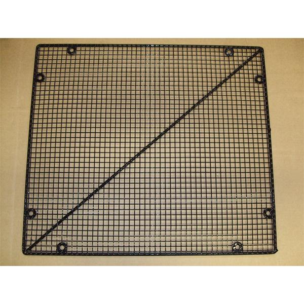 Mesh Door Guard & Screen Black Plastic Coated