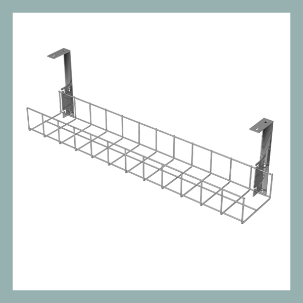 Cable-Tray-with-Large-Brackets-in-Silver