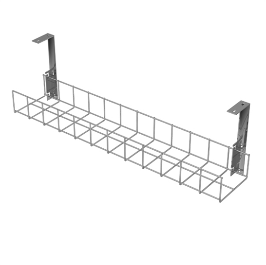 Silver Cable Tray with Large Brackets by AMP Wire Ltd