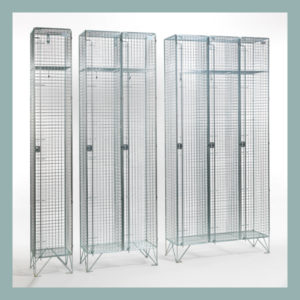 304 Stainless Steel 1 Door Wire Mesh Lockers
