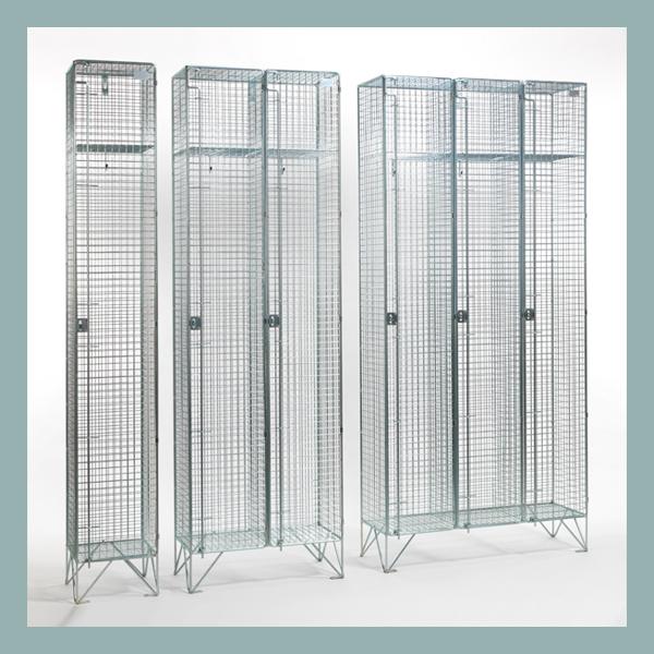 304 Stainless Steel 1 Door Wire Mesh Lockers