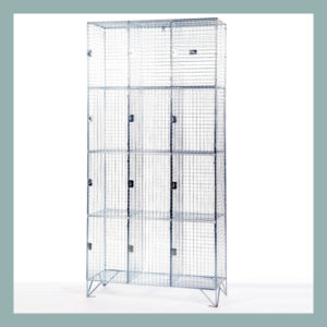 304 Stainless Steel 4 Door Wire Mesh Lockers
