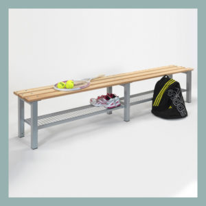Free-Standing-Bench-2000mm-Long-with-Shoe-Tray