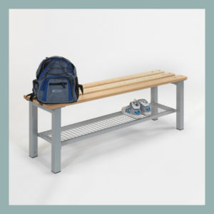 Free-Standing-Changing-Room-Bench-with-Shoe-Tray
