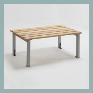 Free-Standing-Changing-Room-Island-Bench-with-Adjustable-Feet