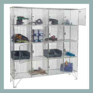 16-Compartment-Wire-Mesh-Locker-With-Doors