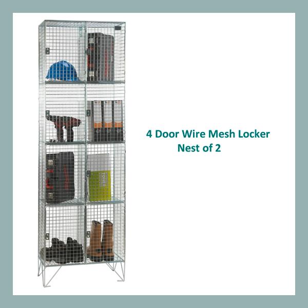 4-Door-Wire-Mesh-Locker-Nest-of-2