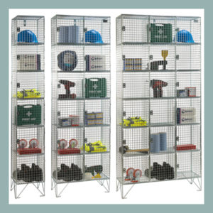 6-Door-Wire-Mesh-Locker