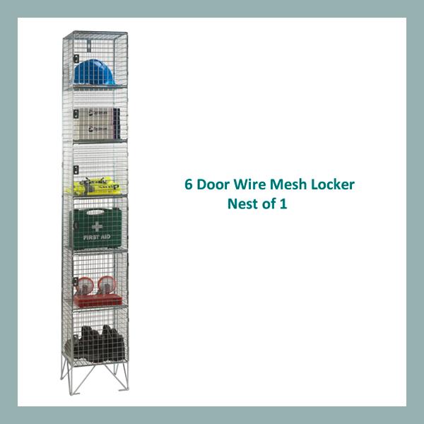6-Door-Wire-Mesh-Locker-Nest-of-1